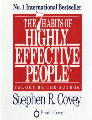 7 Habits of Highly Effective People (Summary).pdf