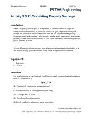 2.3.11.A CalculatingPropertyDrainage NOT DONE