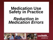 UWHC  Medication Safety 2012