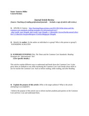 Article  Review Teaching of Reading