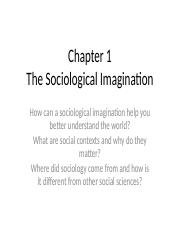Chapter 1 The Sociological Imagination.ppt