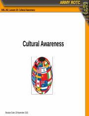 ms2 cultural awareness