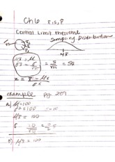 Ch 6 central limit theorem