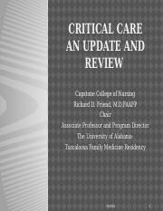 Critical Care  An Update and Review  Fall 2016-1-1.pptx
