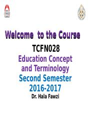 5. Welcome to the Course.ppt