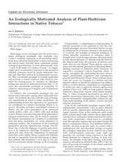 Baldwin-2001-Analysis of Plant-Herbivore Interactions in Native Tobacco