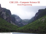 lecture 3 EventProgramming  Core JavaChs. 8& 9