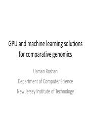 GPU and machine learning solutions for comparative genomics.pdf