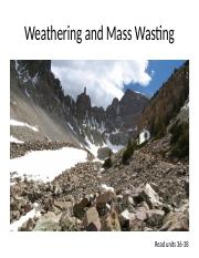 Class 10 - Weathering and Wasting