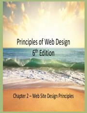 2 – Web Site Design Principles