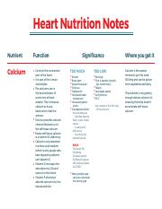 nutrition notes