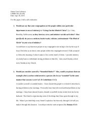 Church Leaderhsip and Ministry Evaluation Paper - Carol Johnson.docx