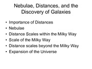 10.0 Distance Scale and Expansion