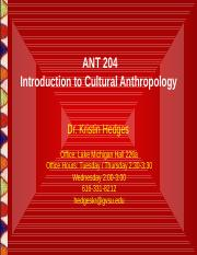 Chapter 1- Study of Culture