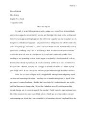 personal odyssey essay honors english mrs molinelli  3 pages college essay final