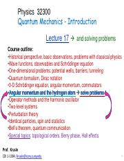 PHYS 323 : Quantum Mechanics for Electrical Engineers - The City