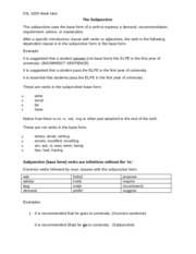 9 Course Map Part 2 The Subjunctive handout