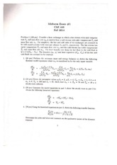 CHE 446 Fall 2014 Midterm 1 Solutions