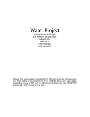Final Water Project