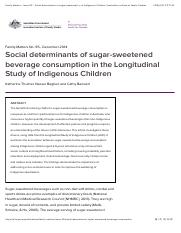 Family Matters - Issue 95 - Social determinants of sugar-sweetened beverage consumption in the Longi