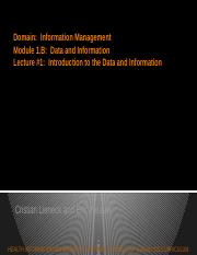 Module 1B_Data and Information_Lecture 1