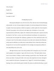 Creative Writing Minor