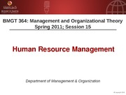 BMGT 364 Session 15 Human Resources Handouts