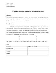Chemical Test for Aldehyde.docx