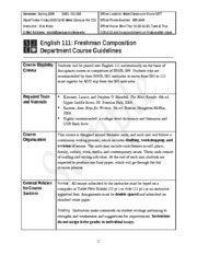 Sample Course Guide-ENGL 111