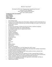 MGT 614: Organizational Leadership and Structure Notes
