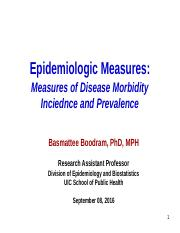 Lecture 07_Epidemiologic Measures of Morbidity_Incidence and Prevalence