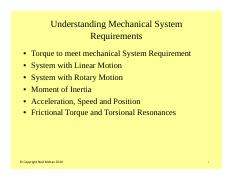 #2 Understanding Mechanical System Requirements