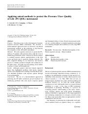 Applying mixed methods to pretest the Pressure Ulcer Quality of Life (PU-QOL) instrument.pdf
