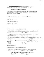 HW The Hyperbola & Other Things