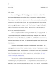 Phil 100 Essay 1 Rough Draft