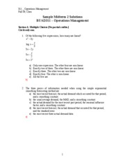 311_Fall09_SampleMidterm_II_Solution