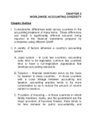 chapter 2 worldwide accounting diversity Chapter 1 introduction to international accounting chapter 2 worldwide accounting diversity chapter 3 international convergence of financial reporting.