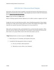UNIV104 Unit 3 Discussion Board Template.docx