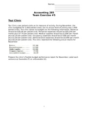 Team Exercise 5 (Chapter 10-11)