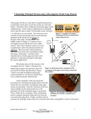 Analysis of a Strain Gage Rosette