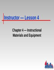 Chapter 4 Notes - Instructional Materials and Equipment(1)