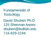 Introduction to Toxicology (History) UBlearns