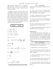 Exam One-solutions