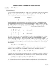 Lectures and Solutions 3