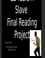 English 131-13 Final Project 12 Years A Slave.pptx