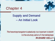 Chapter 4 - Supply and demand - an initial look