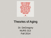 PPP chapter 3 Theories of Aging 2013