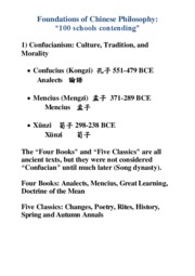 Schools of Ancient Chinese Philosophy