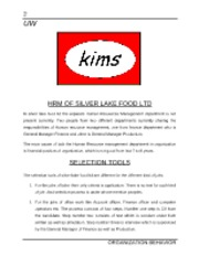 HRM OF KIMS