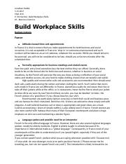 Build Workplace Skills- Business customs France